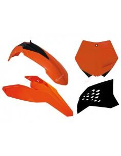 Kit plastiche RACETECH colore originale x KTM SX-SXF 125-250-450-505 2007/2010 EXC-EXCF 125-200-300-350-400-450-530 2008