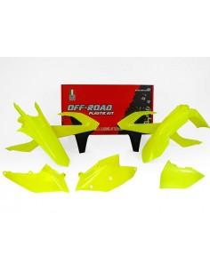 Kit plastiche RACETECH giallo fluo x KTM EXC-EXCF-XC/W 250-300-350-450-500 2017 XC/W 125-150 2017 5 Pezzi