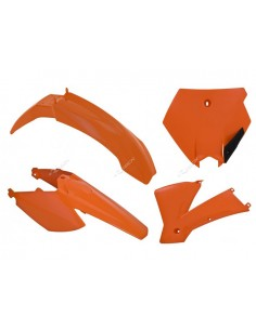 Kit plastiche RACETECH arancio x KTM SX 85 2006=>2012 4 Pezzi