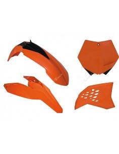Kit plastiche RACETECH arancio x KTM SX-SXF 125-250-450-505 2007=>2010 EXC-EXCF 125-200-300-350-400-450-530 2008=>2011 4