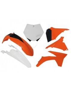 Kit plastiche RACETECH arancio K bianco per KTM SX 125-150-250 2012 SXF 250-350-450 2011-2012 6 Pezzi