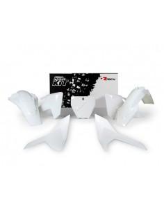 Kit plastiche RACETECH bianco x HUSQVARNA TC 125 2016=>2018 TC-TX 250-300 2017-2018 FC 250-350-450 2016=>2018 FS-FX 350