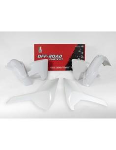 Kit plastiche RACETECH bianco x HUSQVARNA TE-FE 250-300-350-450-501 2017-2018 TX 125 2017-2018 4 Pezzi