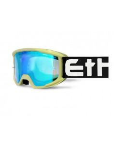 Maschera ETHEN OTG06 Middle bianca nera lente specchiata