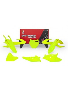 Kit plastiche RACETECH SX 85 2018-2019 giallo fluo 6 Pezzi
