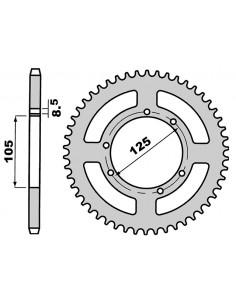 Corona PBR in acciaio 62 denti 428