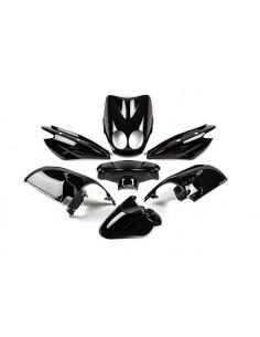 Set carene da 7 pezzi STR8 nere lucide x MBK Ovetto / Yamaha Neo's dal 2008