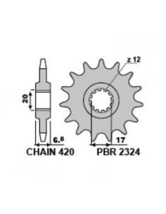 Pignone PBR in acciaio Z13 passo 420