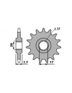 Pignone PBR in acciaio Z16 passo 420