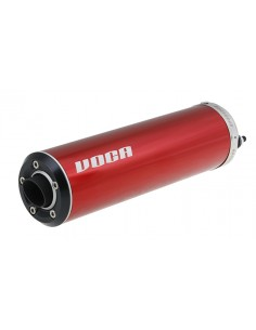 Silenziatore VOCA EVO Rosso fondello nero/alluminio