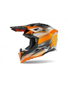 Casco AIROH 2021 Aviator 3 Wave Orange gloss chrome