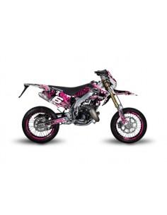 Kit grafiche STAGE6 rosa-nero x HM-VENT 50 Motard 2011/2018