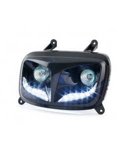 Fanale anteriore STR8 EYELIGHT nero con led x MBK Booster 2004