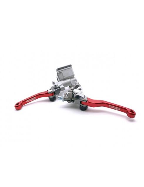 Pompa freno e frizione con leve anti rottura snodate CNC rosse